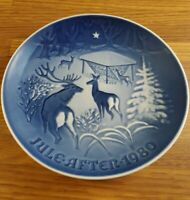 1980 Bing & Grondahl B&G Christmas in the woods plate 7 inch plate Denmark #9080