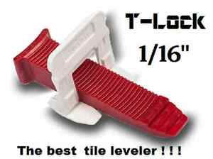 """1/16"""" T-Lock™ Tile leveling system complete KIT wall floor spacers clips leveler"""