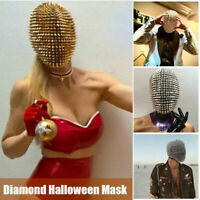 Studded Spikes Full Face Jewel Margiela Face Cover Funny for Halloween Cosplay ✅