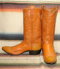 Womens Vintage Tony Lama Peanut Brittle Cowboy Boots 5 C Good Used Condition