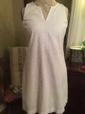 Crown And Ivy, White Eyelet Dress, Size 10