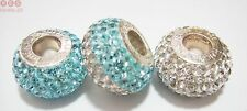 Genuine 925 Sterling Silver Turquoise Shamballa Sparkle Charm Beads Rhona Sutton