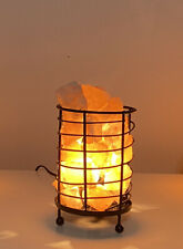 Natural Himalayan Ionic Rock Crystal Salt Light Lamp Dimmer Basket