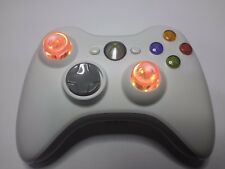 Xbox360 Controller Wireless - Orig. 100% Microsoft BIANCO-WHITE - LED MOD Analog