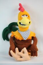 Vintage Chicken Run Rooster Stuffed Beanie Plush Playmates Toys Dreamworks 2000