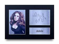 Adele Signed Pre Printed Autograph A4 Photo Gift For a Pop Fan