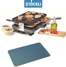 STÖCKLI Party Pizza Grill f. Raclette, Pizza, Crepes & Silikonmatte in anthrazit