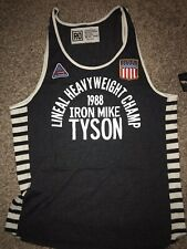 ROOTS OF FIGHT BOXING IRON MIKE TYSON BLACK TANK TOP SHIRT XXXL 3XL