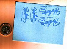 decalcomanie decals poulain bleu clair 1/43