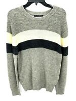 Slate & Stone Mens Gray Color Block Sweater Crew Neck Size XL NWT
