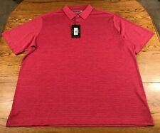 Roundtree & Yorke Performance Polo Shirt Men's 2XLT 2X Tall Pink-Red NWT