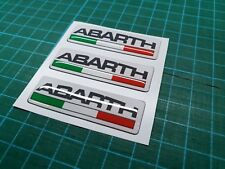 Fiat 500 / 595 / 695 Abarth Italia resin Badge wing Decals / Stickers 55mm