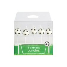 Football Candles Birthday Cake Decoration Pack of 5