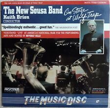 THE NEW SOUSA BAND, KEITH BRION Laserdisc On Stage at Wolf Trap LD ID8228PC