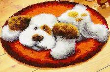 DIY Cute puppy cartoon dog Make your own Latch Hook Rug kit Unique Gift UK kids