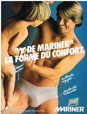 PUBLICITE ADVERTISING 095  1980  MARINER  slip sous vetements