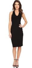 Susan Monaco Black V Neck Sleeveless Dress Size M