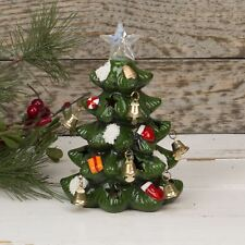 Hand Painted LED Light Up Christmas Tree with Jingle Bells On