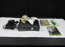 Microsoft Xbox 360 S Console Bundle Tested W/ Two Controllers + 3 Cod Games