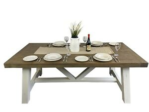Reclaimed Wood Dining Table PLUS 4 x Wooden Chairs Set