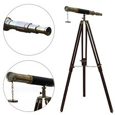Functioning Nautical Masterpiece Scope Vintage Brass Telescope With Tripod Stand