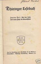 Thüringer Lesebuch, Zweiter Teil, Für das 3. und 4. Jahr der Grundschule, 1923