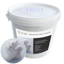 Holding Hands Couples 3D Casting Kit - Moulding Powder, Plaster, Tools, Bucket +