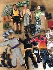 Vintage 1990s Retro Action Man Bundle 3 X Figures + Parachute / Clothing / Boots