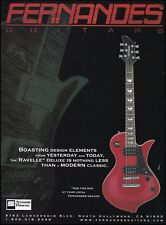 The Fernandes Ravelle Deluxe Series Guitar ad 8 x 11 advertisement print