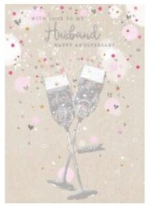 Husband Happy Anniversary Card ~ By Card Essentials ~ Free P&P