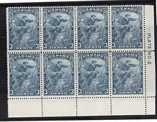 Canada #208ii NH Mint Plate #2 LR Scarface Variety Block Of Eight