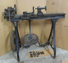 Antique W.F.&J. Barnes # 5 Velocipede Pedal metal lathe