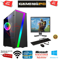Fast Gaming PC Intel Core i5 Quad Core Computer 8GB Ram 1TB 2GB GT710 WiFi HDMI