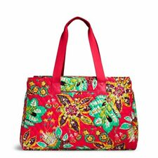 NWT Vera Bradley Triple Compartment Travel Bag ~ RUMBA ~ Red Multi-color Floral