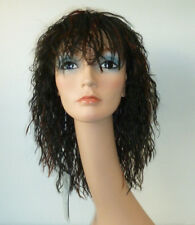 Tina MT-185 Wig WILD kinky-curly color: #FS1B/182 Black with Red Highlights