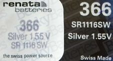Renata Single Watch Battery Swiss Made Renata 366 or SR1116SW 1.5V Fast Shipping