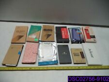 Qty = 12 : Mix Lot of Cell Phone Cases & Tempered Glass Screen Covers