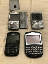 Lot Of 4 Used Blackberry Cell Phones, Untested For Parts Or Repair,