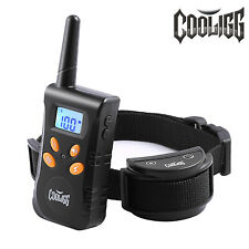 Dog Shock Training Collar Rechargeable With Remote Control Waterproof 500 Yards
