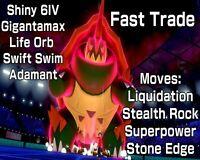 Drednaw Pokemon Sword Shield Ultra Shiny 6 IV Gigantamax - Adamant - Swift Swim
