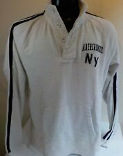 Abercrombie & Fitch NY 2 Button Henley Style Sweatshirt SZ XL