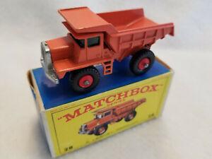 Vintage Matchbox Lesney # 28d Mack Dump Truck 1968 – MIB