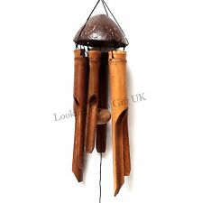 Hand Made Natural Bamboo & Coconut Windchime, Wind chime (plain)