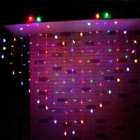 Indoor Led Curtain String Light 124 Leds Wedding Party Home Decor Fairy Light