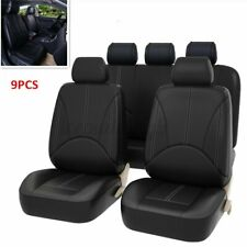 PU Leather Car Seat Cover Full Set Front Rear Seat Cushion Mat Protector  .+
