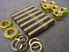 Ford Kent Crossflow S/S Exhaust Manifold Studs, Brass Nuts & Washers (Set of 6)