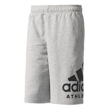 Pantalones cortos de hombre grises de poliéster