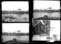 Lot of 4! Oil Tanker Tiny Tugboat Priscilla P White BOSTON MA Photo Negatives 15