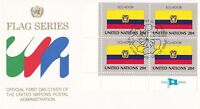 UN154) United Nations 1984 Ecuador 20c Stamp - Flag Series FDC. Price: $8.00