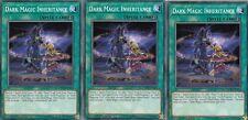 YuGiOh CARD - 3 X DARK MAGIC INHERITANCE  LEDD-ENA18 LEGENDARY DRAGON DECK